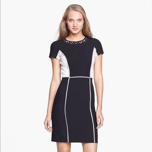 Rebecca Taylor Studded Colorblock Sheath Dress
